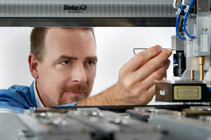 Technician Working on Complex Electronics