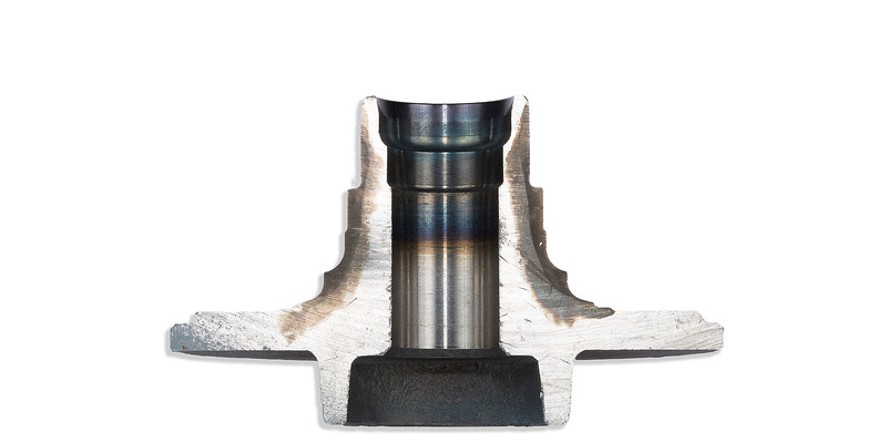Sectioned heat treated wheel bearing