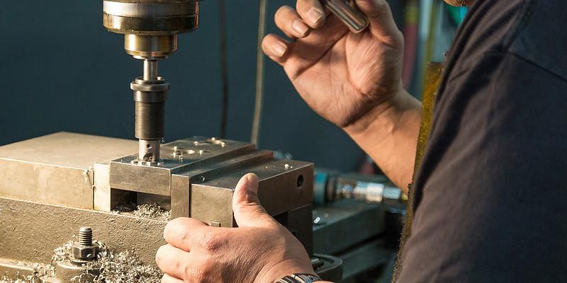 Machining holes