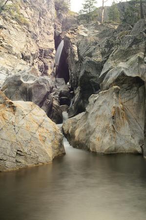 Upper Canyon Creek under the haze