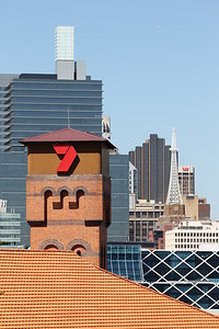 Channel 7 building against the Sydney skyline
