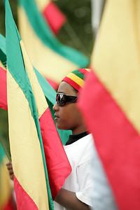 A young man celebrates his Ethiopian heritage at Auckland's International Cultural Festival.