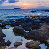 This image is taken at sunset on the Hawaiian island of Maui.<br /> This image is sized at 2x3 and can be viewed in the Other Places gallery