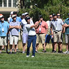 (Brad Davis/The Register-Herald) A hoard of fans watches eventual champ Kevin Na shoot from the rough during the Military Tribute at The Greenbrier Sunday afternoon in White Sulphur Springs.