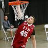 (Brad Davis/The Register-Herald) WVU recruit Teddy Allen dunks during the Scott Brown memorial game Saturday evening at the Beckley-Raleigh County Convention Center.