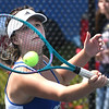 Terryn Sears, of Independence, competes in the Class AA-A Region 3 high school tennis tournament held at Shady Spring High School.<br /> (Rick Barbero/The Register-Herald)