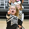 (Brad Davis/The Register-Herald) The Westside Renegades B-team takes their turn to perform for the judges during a Youth Cheerleading Competition Sunday afternoon at the Beckley-Raleigh County Convention Center.
