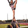 Woodrow Wilson cheerleaders cheering during game againt Morgantown held at Woodrow Wilson High School.<br /> (Rick Barbero/The Register-Herald)