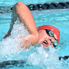 (Brad Davis/The Register-Herald) Beckley's Luke Feldhake swims for the WV Piranhas during the YMCA West Virginia Long Course Championships at the New River Park Friday evening.