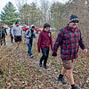 "(Brad Davis/The Register-Herald) A group of hikers embark on a light, 2.5 mile journey along the Timber Ridge, Fayetteville and Long Point trail loop as they ""Opt Outside"" instead of partaking in the long lines and hustle of Black Friday shopping Friday afternoon at the Long Point trailhead. Active Southern West Virginia community captains Levi Moore and Hilarie Jones, among others, helped organize the annual hike, which began with the basic idea of encouraging outdoor recreation instead of consumer shopping."