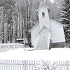 Snow covers the surroundings of the old coal camp church located at the Beckley Exhibition Coal Mine.<br /> (Rick Barbero/The Register-Herald)