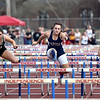 (Brad Davis/The Register-Herald) Area runners compete in the 110-meter high hurdles during the Dickey's Invitational Friday afternoon at Independence High School.