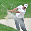 (Brad Davis/The Register-Herald) Phil Mickelson shoots from a bunker on no.8 during opening round action of the Military Tribute at The Greenbrier Thursday afternoon in White Sulphur Springs.