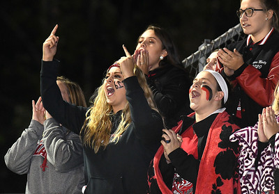 Liberty students cheering for their team against Independence Friday night. (Rick Barbero/The Register-Herald