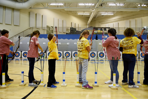 Shady Spring Archery Invitational was held Saturday at Shady Spring Middle School. (Chris Jackson/The Register-Herald)