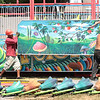 Workers put together the Wacky Worm ride at the State Fair of West Virginia Monday. Jenny Harnish/The Register-Herald