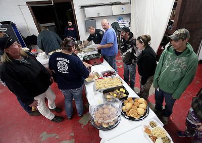 Brad Davis/The Register-Herald Rhodell community Thanksgiving dinner, Rhodell Volunteer Fire Department, November 21, 2015.