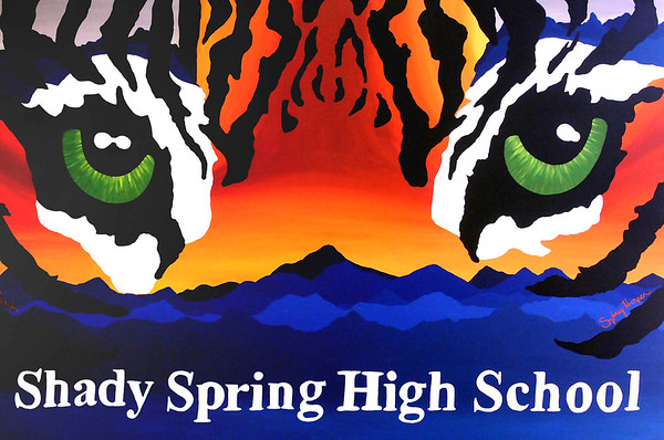 One of the two murals painted by art students at Shady Spring High School. Jon C. Hancock/for The Register-Herald