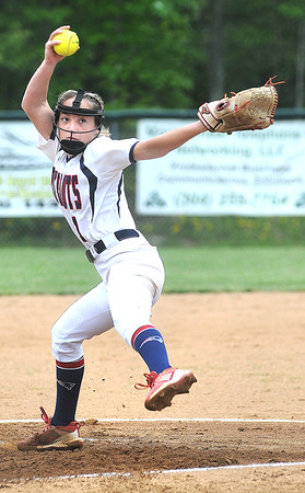 Independence pitcher Delaney Buckland winds up and pitches to a batter during a game against Shady. Jon C. Hancock/for The Register-Herald