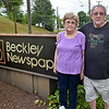 (Brad Davis/The Register-Herald) Karen and George Bragg pose for a quick photo during a visit to the Register-Herald offices Friday evening.