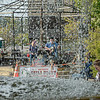 F. Brian Ferguson/Register-Herald=Live music, as seen through a fountain, was among the draws during Saturday's Chili Night in Beckley.