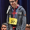(Brad Davis/The Register-Herald) Fayette County's Colby Adkins takes a turn during the 2017 Gazette-Mail Regional Spelling Bee Saturday afternoon at Capital High School in Charleston.