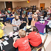 Large crowd gathers at the Womans Expo held at Beckley-Raleigh County Convention Center Friday afternoon. This is a two day event with 120 vendors displaying their products.<br /> (Rick Barbero/The Register-Herald)