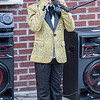 F. Brian Ferguson/Register-Herald=Bryson Cross, 7, of Beckley, provides the Chili Night crowd with some R&B tunes on Saturday evening in Beckley.
