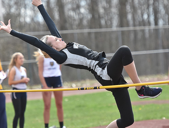 (Brad Davis/The Register-Herald) Westside's Tiffany Sexton competes in the high jump during the Dickey's Invitational Friday afternoon at Independence High School.