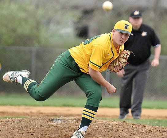 (Brad Davis/The Register-Herald) Greenbrier East starting pitcher Hunter Ridgeway delivers against Woodrow Wilson Wednesday evening in Beckley.