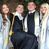 Westside graduates Madison Hicks, Dakota Burgess, David Burgess and Kristy Martin celebrate following their graduation Saturday.<br /> Jim Cook for the Register-Herald