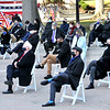 Due to the Covid-19 pandemic, social distancing was maintained at Governor Jim Justice's inauguration ceremonty for his second term as the 36th Governor of the State at the West Virginia Capitol in Charleston on Friday.  (Craig Cunningham/The Register-Herald)