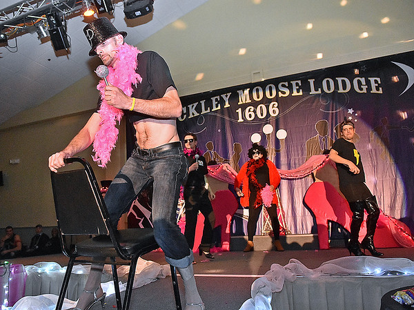 (Brad Davis/The Register-Herald) Hunks in Heels fundraising event for the Women's Resource Center March 10 at the Beckley Moose Lodge.