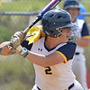 (Brad Davis/The Register-Herald) WVU Tech's MaKayla Waugh stands in for an at-bat against Cincinnati Christian Saturday afternoon at Woodrow Wilson High School.
