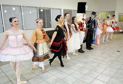 Rick Barbero/The Register-Herald Characters from the Nutcracker entertained during the Sugar Plum Fairy Tea Party was held at Lewis Automotive Group, on 100 Appalachian Dr in Beckley Sunday afternoon. Guest enjoyed tea with Clara, the Sugar Plum Fairy and other characters from The Nutcracker. This was a benefit event for the Heather Zickefoose Scholarship fund to aid talented students to be professional dancers.