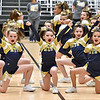 (Brad Davis/The Register-Herald) The Coal City Mountaineers B-team takes their turn to perform for the judges during a Youth Cheerleading Competition Sunday afternoon at the Beckley-Raleigh County Convention Center.