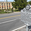 Bill Withers sign in front of Stratton Elementary School on South Kanawha Street in Beckley.<br /> (Rick Barbero/The Register-Herlad)