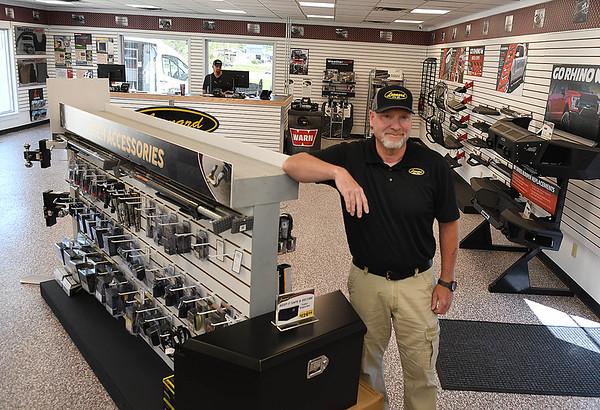Ken Parent, manager, of Leonard Building Truck & Accessories on 3788 Robert C Byrd Drive in Beckley.<br /> (Rick Barbero/THe Register-Herald)