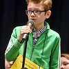 (Brad Davis/The Register-Herald) Greenbrier County's Lawson Hamilton takes a turn during the 2017 Gazette-Mail Regional Spelling Bee Saturday afternoon at Capital High School in Charleston.