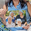 Danielle Lilly holds a photo of her grandparents, her mom and her aunt at her home in Shady Spring. All four of them died of COVID-19, three of them in August. None of them had gotten the vaccine. Top row, from left, sisters Krystal Garza and Marsha Ricketts, with their parents Alvin and Betty Norris. Jenny Harnish/The Register-Herald