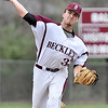 (Brad Davis/The Register-Herald) Woodrow Wilson starting pitcher Hunter Fansler delivers during a 17-strikeout performance against Greenbrier East Wednesday evening in Beckley.