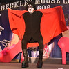 (Brad Davis/The Register-Herald) Mason Hannah during individual introductions at the annual Hunks in Heels fundraising event for the Women's Resource Center Friday night at the Beckley Moose Lodge.
