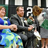 (Brad Davis/The Register-Herald) School administrators were not exempt from the silly string barrage at the conclusion of Wyoming East High School's 2017 Commencement Ceremony June 4 in New Richmond.