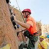 Rafe Proctor, 14,  from Concord, Ohio, repels down the rock wall at the Adventure Zone during the 2017 National Jamboree at The Summit Bechtel Reserve near Mt. Hope. (Chris Jackson/The Register-Herald)