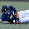 Short Stop Mike Snyder for the Lafayette Aviators dives for a ball to save a run during the WV Miners game.<br /> Tina Laney/for The Register-Herald
