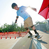 Boy Scout Mike Byzea, 16, from New York skateboards at one of the Adventure Zone's skateparks Thursday during the 2017 National Jamboree at The Summit Bechtel Reserve near Mt. Hope. (Chris Jackson/The Register-Herald)