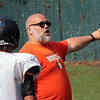 Summer's County first-year football coach Josh Evans coaches his team during three-week summer session at Summers County High School Wednesday. Jenny Harnish/The Register-Herald