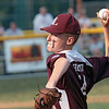 Beckley's Ethan Hontz pitches during the State Little League game against Barboursville Tuesday in Lewisburg. Jenny Harnish/The Register-Herald