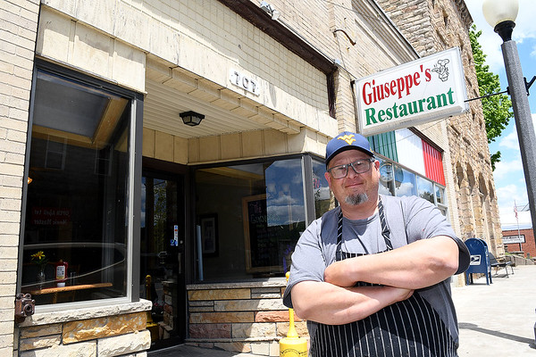 George Cook, owner of Giuseppe's Restaurant on Main Street in Mt. Hope.<br /> Rick Barbero/The Register-Herald)