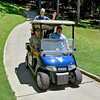 (Brad Davis/The Register-Herald) Brandon Reece rides in style during BNI action Sunday afternoon at Glade Springs' Stonehaven Golf Course.